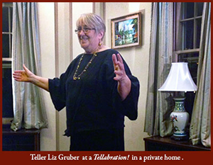 Liz Gruber Telling At A Private House Tellabration